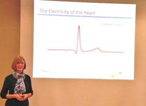 Elizabeth Lewis Lecturing Heart Math